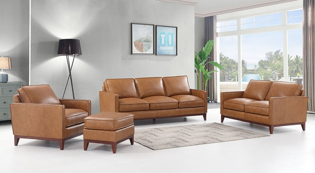 Swell Newport Sofa Set 100 Top Grain Leather Gamerscity Chair Design For Home Gamerscityorg