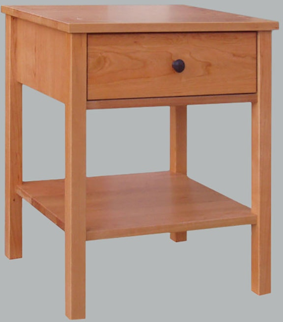 bedroom one drawer nightstand natural sap cherry vergennes, vt Natural Nightstand