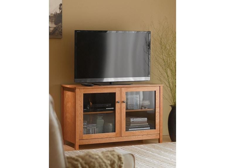 Living Room 48 Tv Stand Natural Glass Doors Vergennes Vt