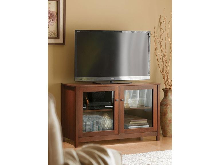 Living Room 48 Tv Stand Cinnamon Glass Doors Vergennes Vt