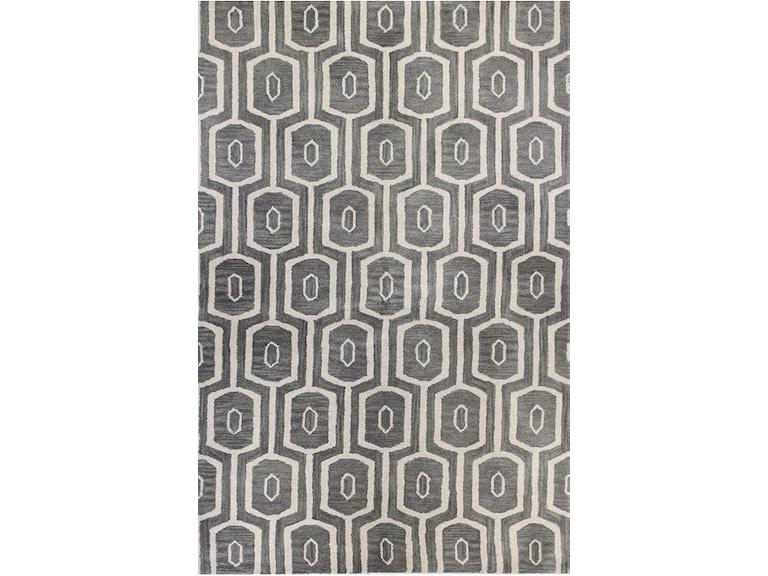 Toms Price Rugs Living Room Gray Geometric Rug Cact152gry000