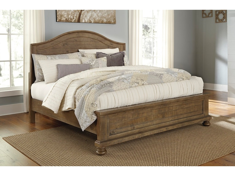 Ashley King Panel Bed Trishley Including Headboard Footboard And