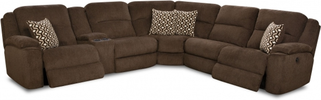Homestretch Power Reclining Sectional Sofa With Usb