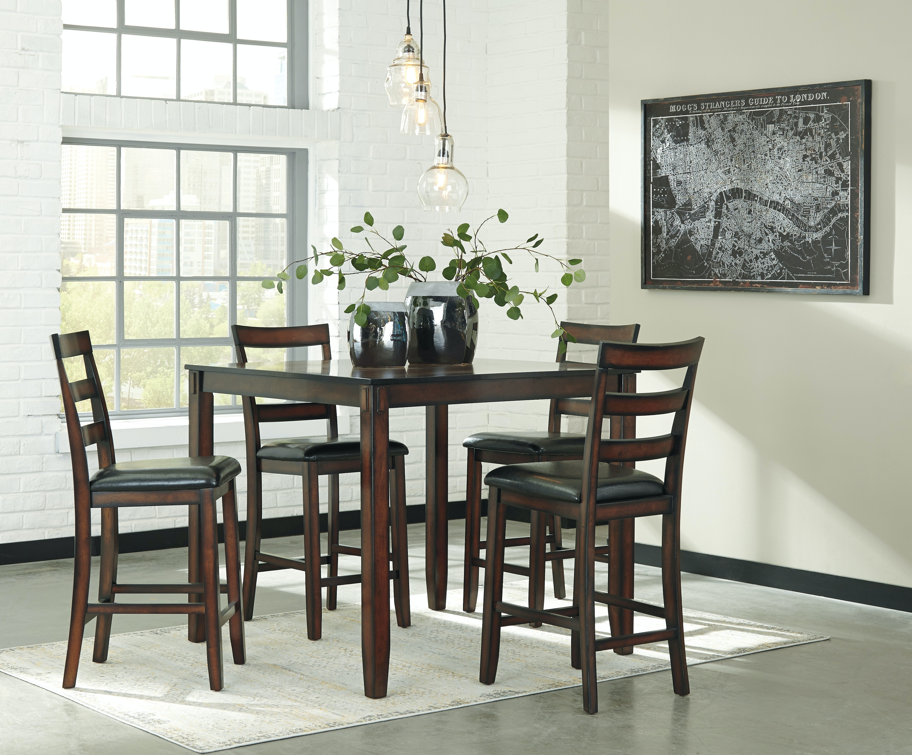 Ashley Coviar 5 Piece Counter Height Dining Set D385 223