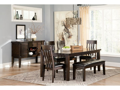 Signature Design By Ashley Table Amp 4 Chairs With Bench