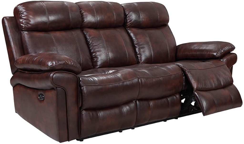 Living Room Leather Italia Brown Reclining Sofa 1555 Brown ...