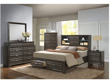 Lifestyle Aaron Queen Storage Bedroom Set C5236a