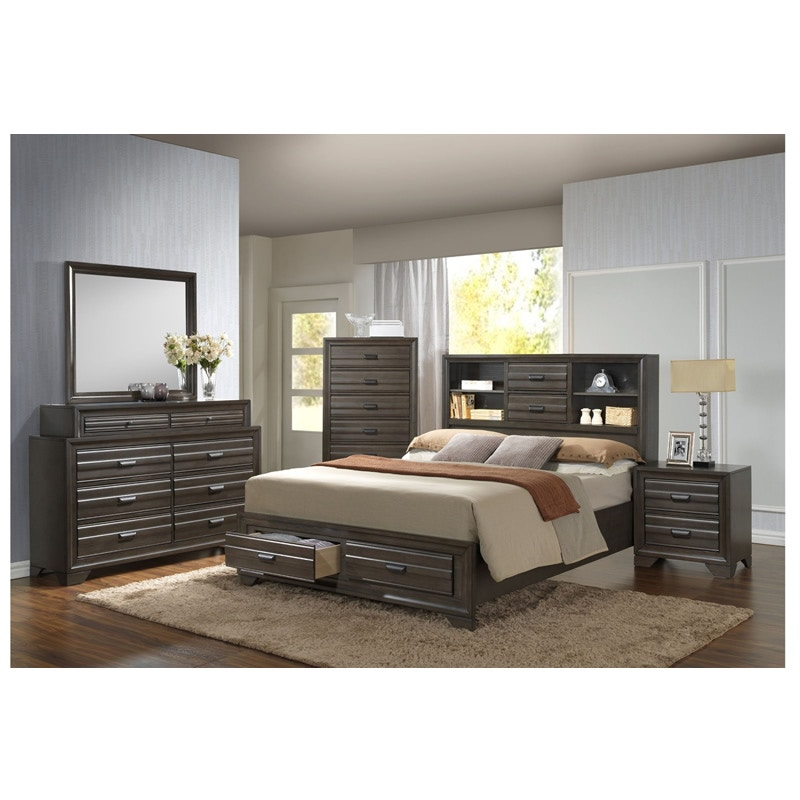 Ordinaire Lifestyle Aaron Queen Storage Bedroom Set C5236A