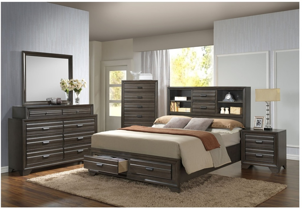 Aaron Queen Storage Bedroom Set