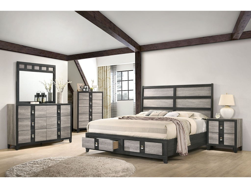 Lifestyle Queen Storage Bedroom Set C8301 Gavigan S Furniture Bel Air Catonsville Frederick