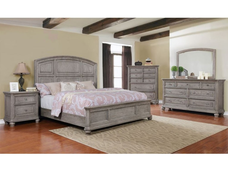 Lifestyle Living Room Anastasia King Bedroom Set CAK Gavigans - Lifestyle furniture bedroom sets