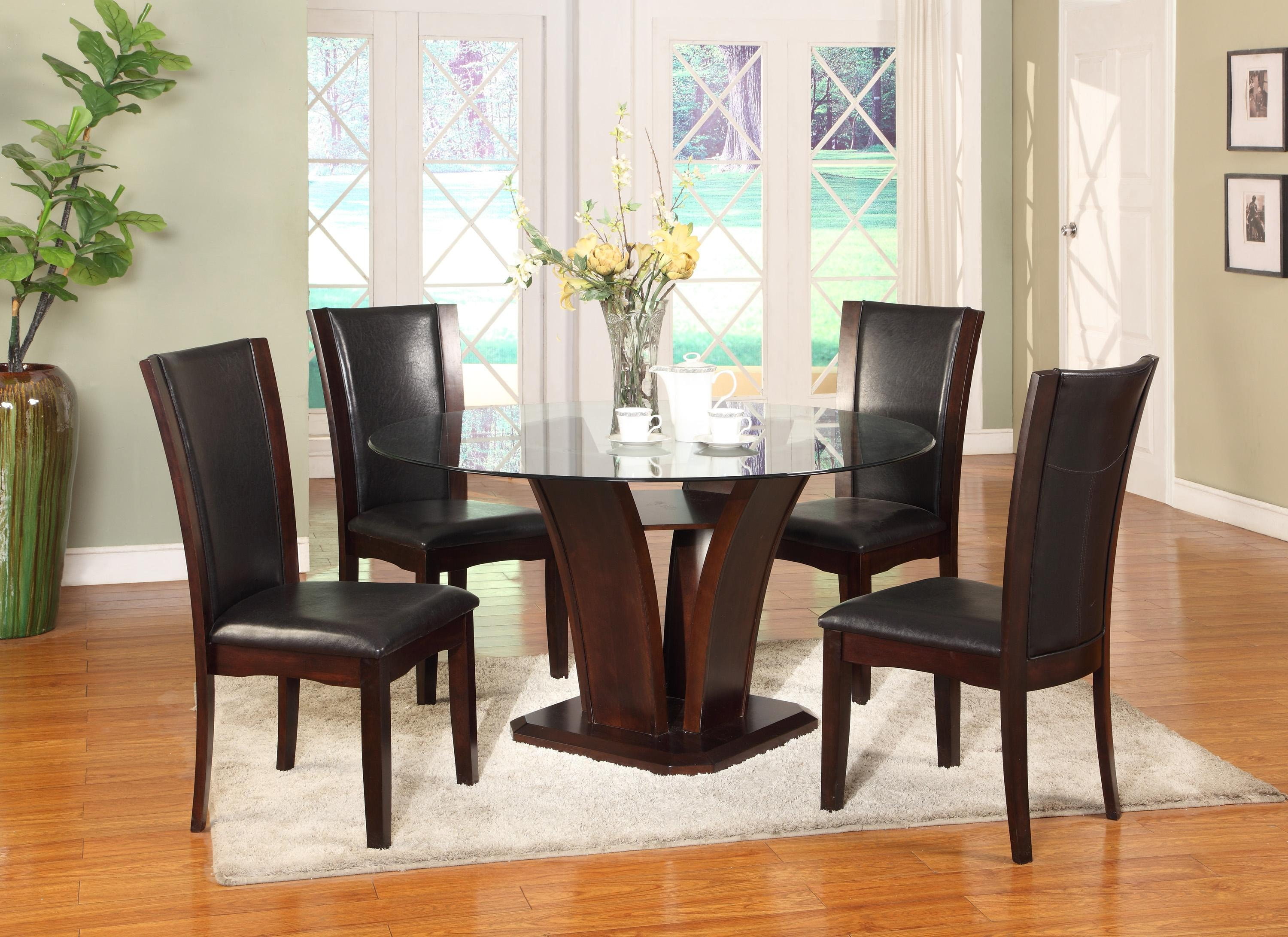 Crown Mark Camelia 5pc Dining Set: Table, 4 Side Chairs 1210