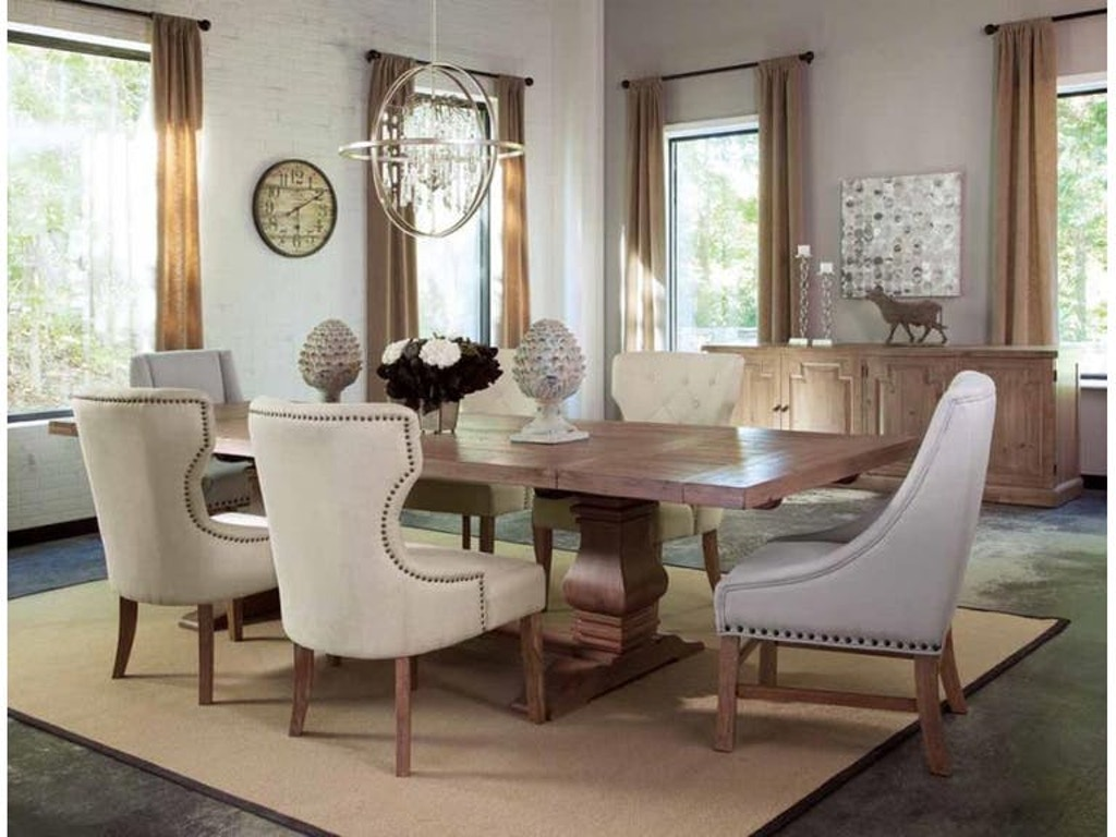 dining room set with upholstered chairs