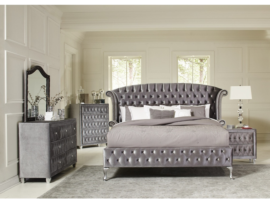 Deanna 5pc bedroom set headboard footboard rails for Bedroom furniture sets b q