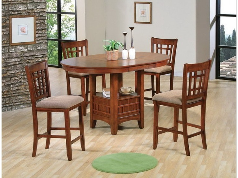Crown Mark 3 Color Options Empire 5pc Counter Height Dining Set 4 Stools