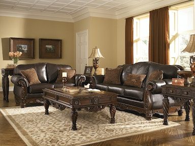 Ashley North Shore Sofa & Love (LEATHER) 22603 SET