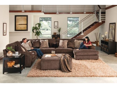 Jackson Furniture (3 Color Options) Serena Sectional w/ RSF Chaise in Truffle (Several Configuration Options) 2276 Sectional
