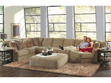 Jackson Furniture Malibu Sectional in Sand w/ Piano Wedge 3239 Sectional Sand