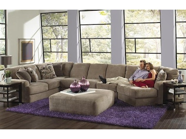Jackson Furniture Malibu Sectional in Taupe w/ Piano Wedge 3239 Sectional Taupe