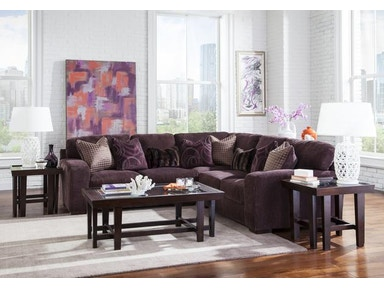Jackson Furniture Serena Sectional in Plum 2276 Sectional Plum