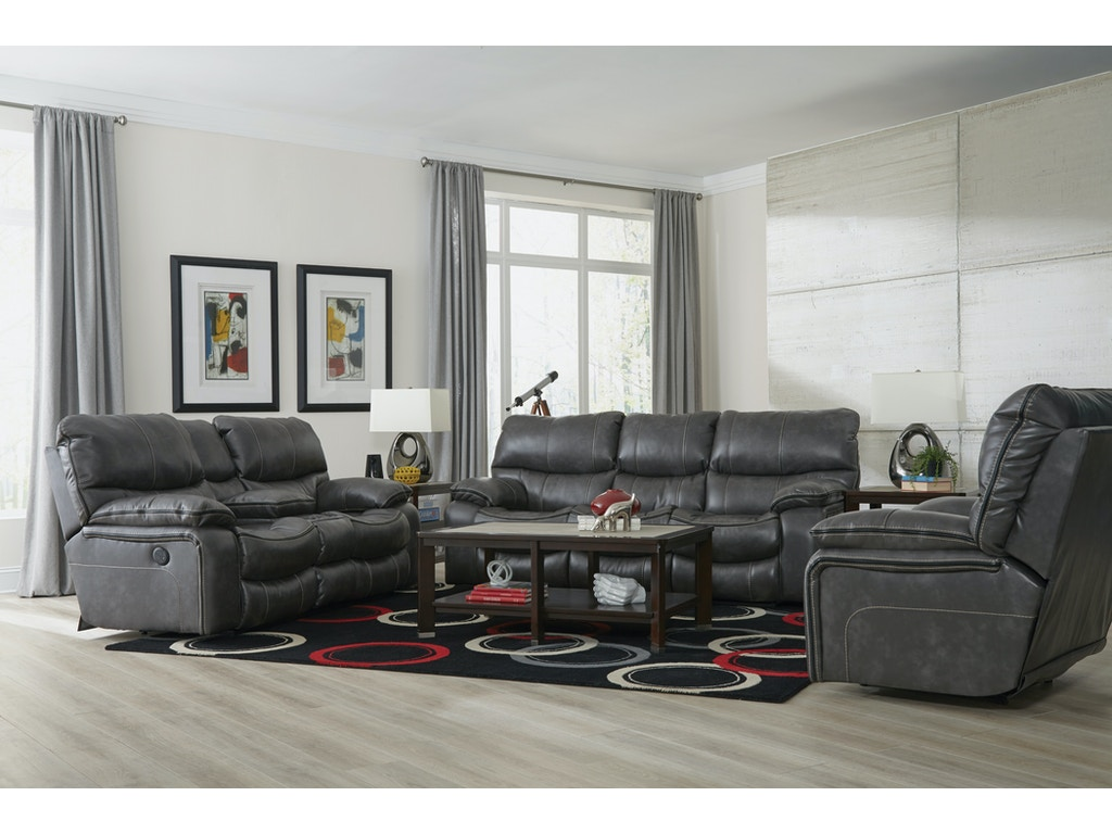 Catner Furniture Camden Reclining Sofa Rock Recl Loveseat 408 Steel Set