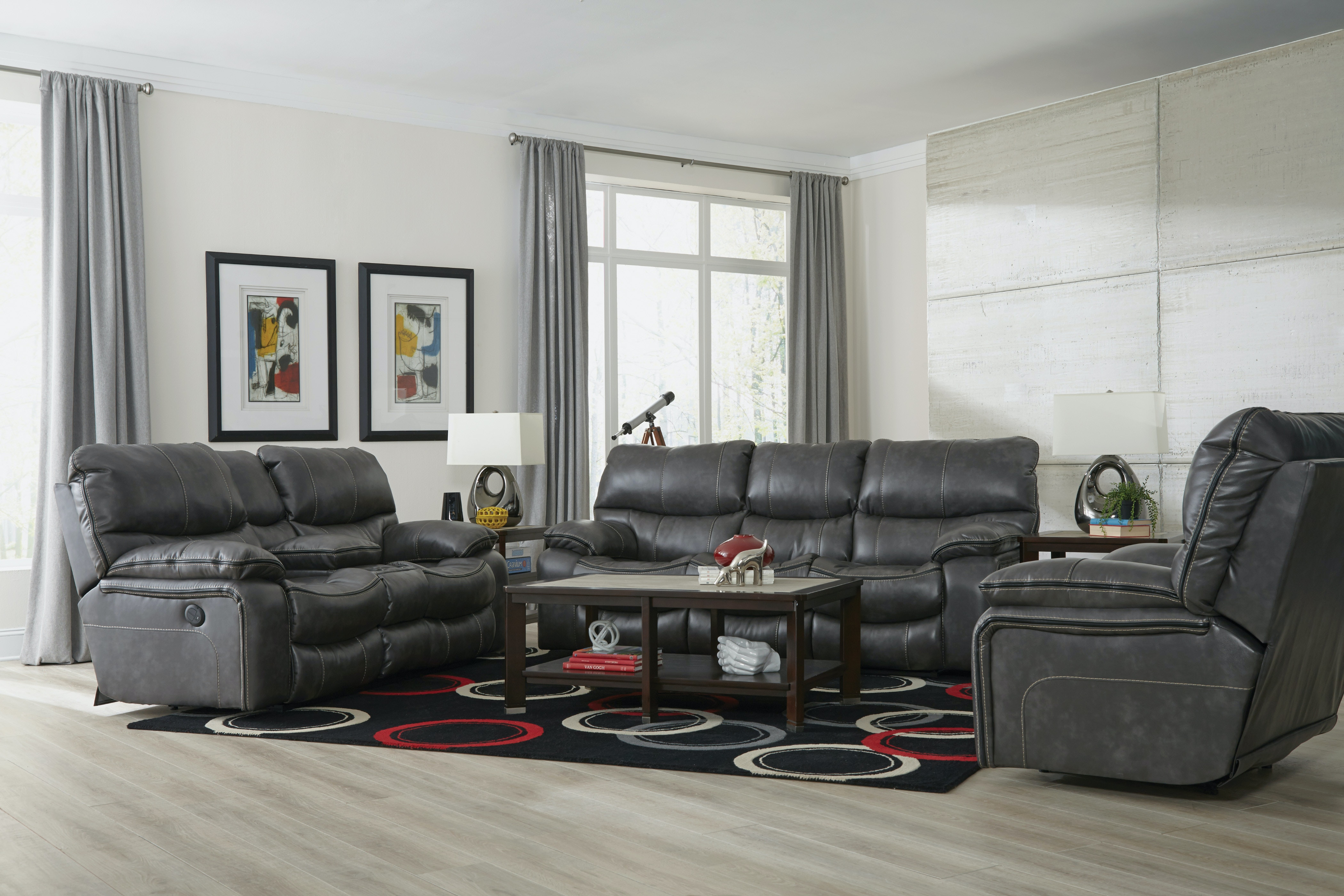 Marvelous Catnapper Furniture Camden Reclining Sofa U0026 Rock/Recl Loveseat 408 Steel Set