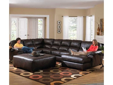 Jackson Furniture Lawson Sectional in Godiva w/ RSF Chaise 4243 Sectional Godiva