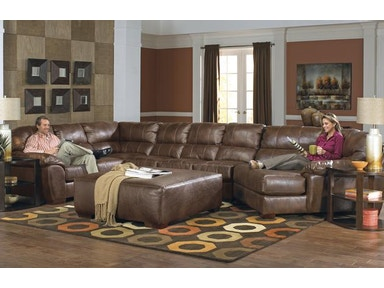 Jackson Furniture Lawson Sectional in Chestnut w/ Piano Wedge 4243 Sectional Chestnut