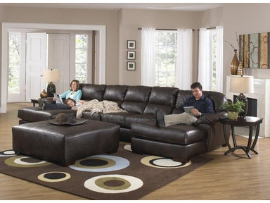 Jackson Furniture Lawson Sectional in Godiva w/ 2 Chaises 4243 Sectional Godiva-2 Chaise