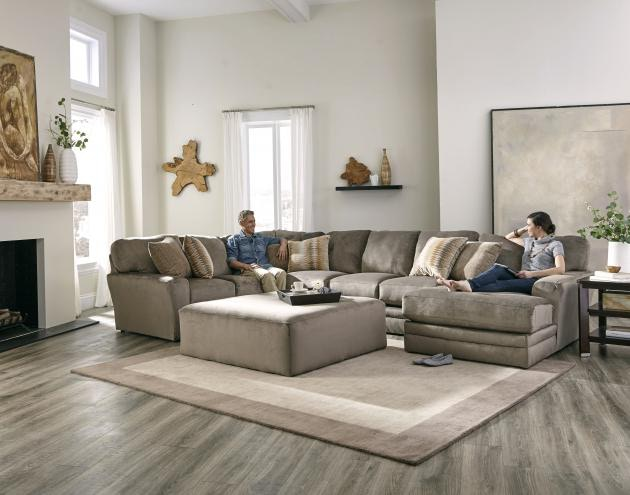 Jackson Furniture Everest Sectional in Seal w/ Chaise 4377 Sectional Seal : jackson furniture sectional - Sectionals, Sofas & Couches