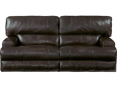 Catnapper Furniture Wembley Pwr Headrest/Recline Sofa (LEATHER) 6458 Chocolate