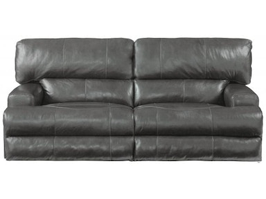 Catnapper Furniture Wembley Pwr Headrest/Recline Sofa (LEATHER) 645 Steel