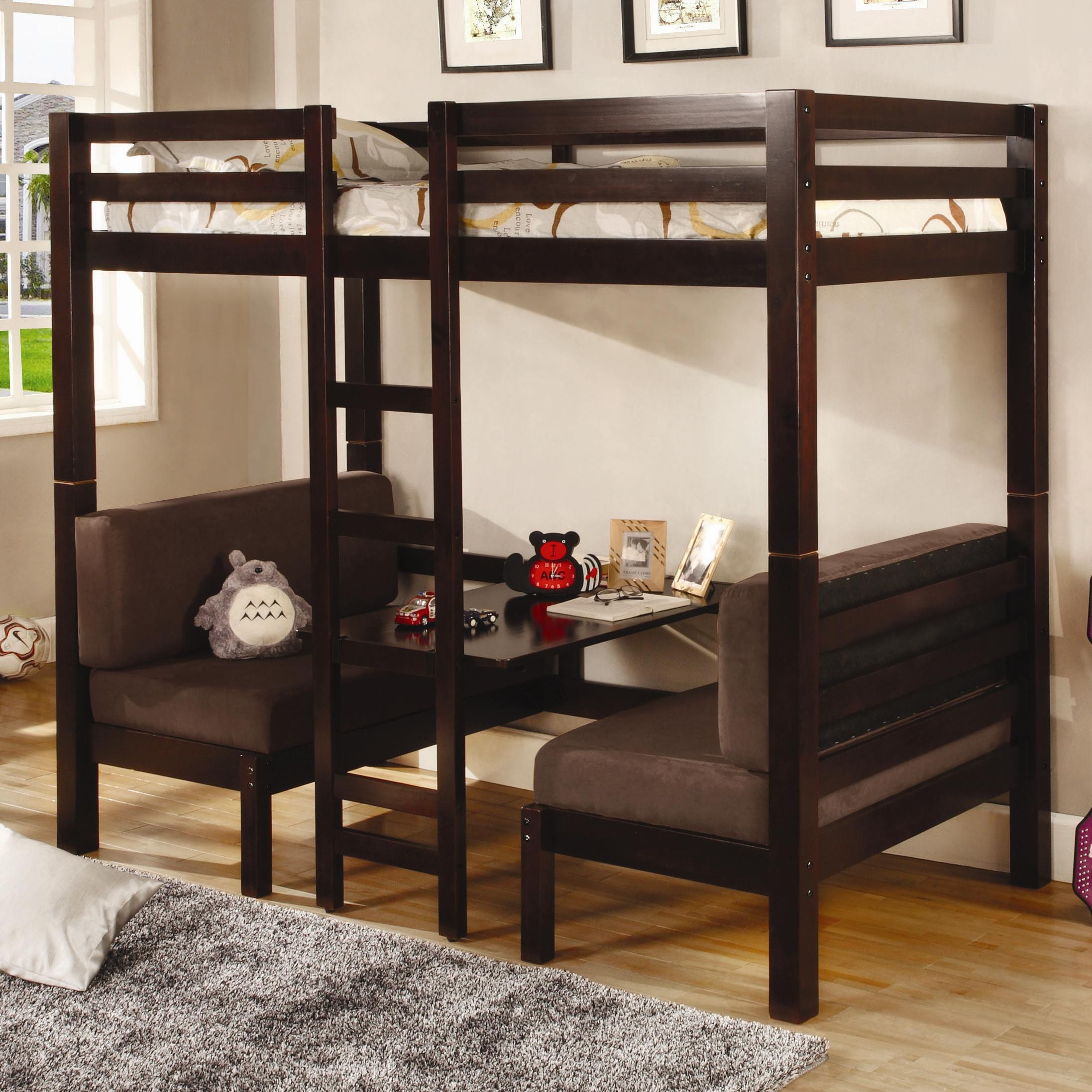 loft bed twin mattress bunk dimensions xl coaster cappuccino white over convertible