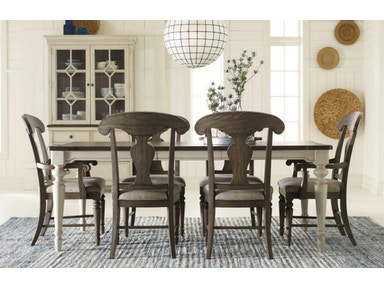 6400 7pc Leg Tbl Grey Chrs Brookhaven Dining Room Set
