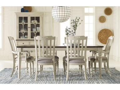 6400 7pc Leg Tbl White Chrs Brookhaven Dining Room Set