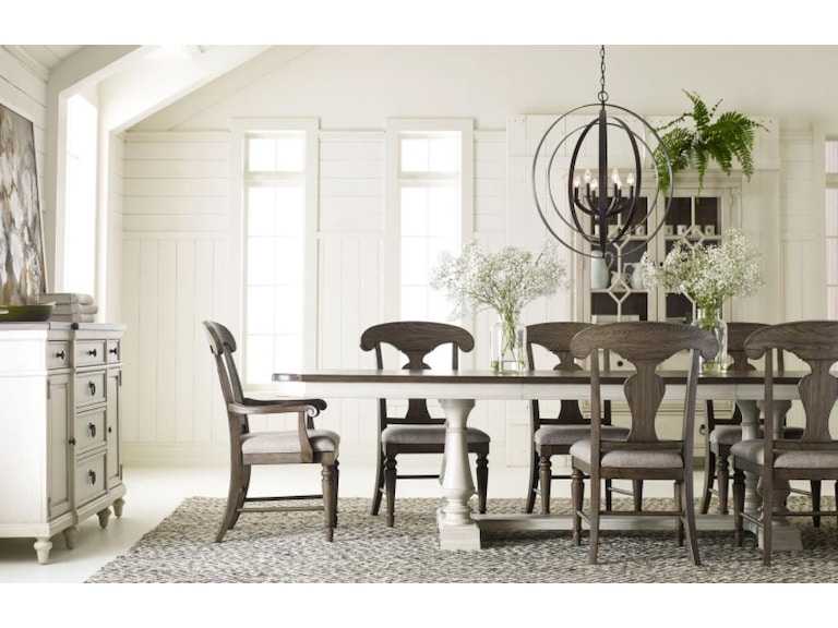 Legacy Clic Furniture Brookhaven 7pc Dining Room Set 6400 W Grey Chairs