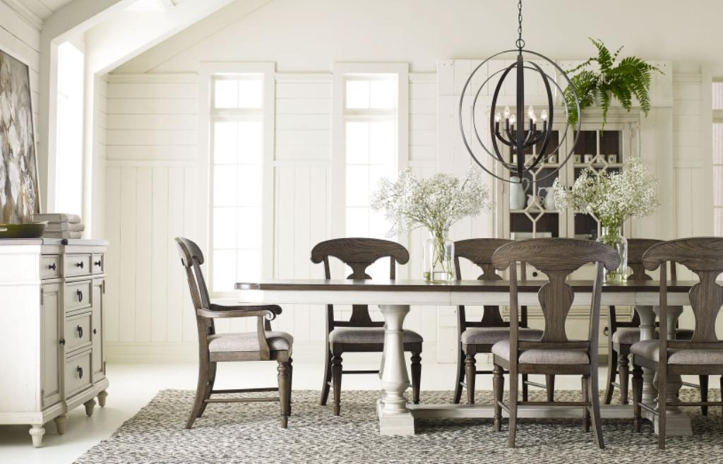 Legacy Classic Furniture Brookhaven 7pc Dining Room Set 6400 7pc Set W/  Grey Chairs