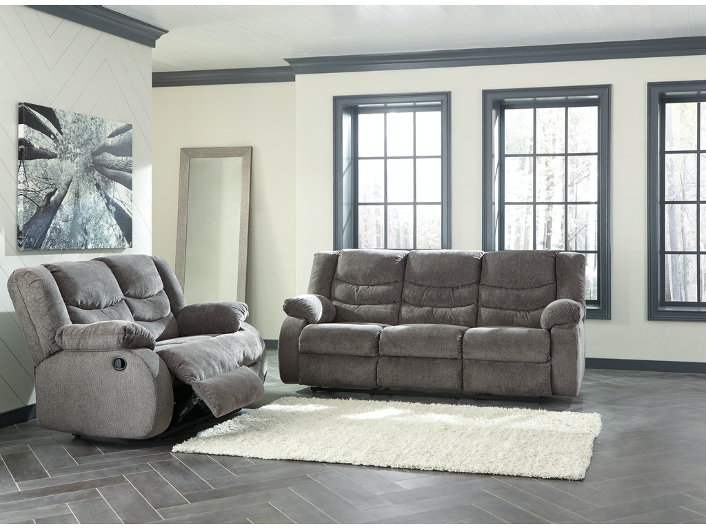 Tulen Gray Reclining Sofa Loveseat