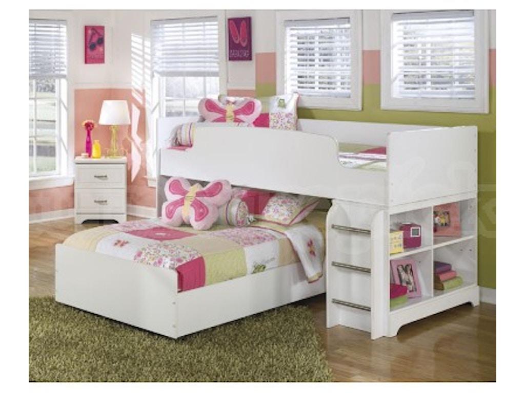 Lulu Loft Bed Set w/ Storage