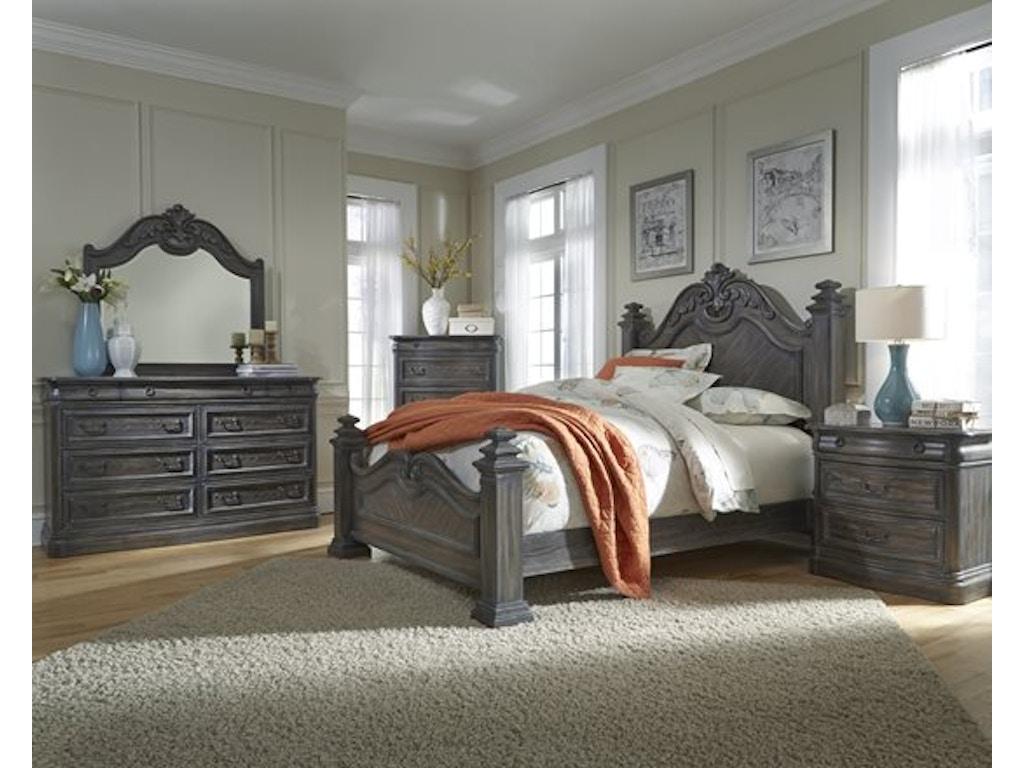 Progressive Bedroom Furniture Terracina 5pc Poster Bedroom Set Headboard Footboard Rails