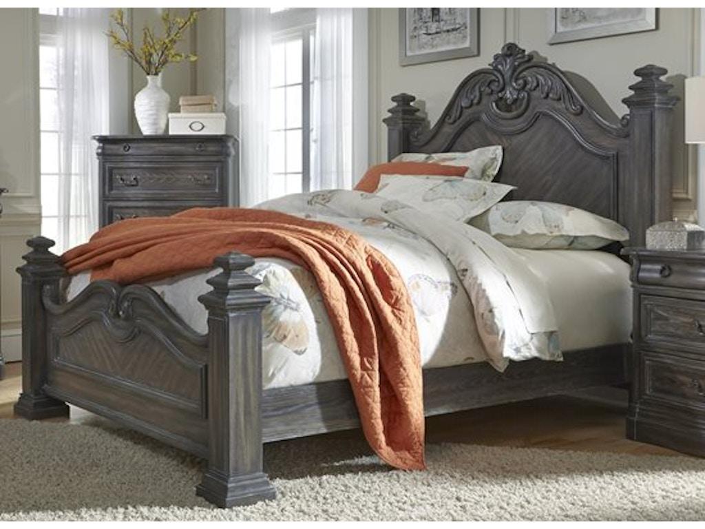 Terracina Pc Poster Bedroom Set Headboard Footboard Rails - Progressive furniture bedroom sets