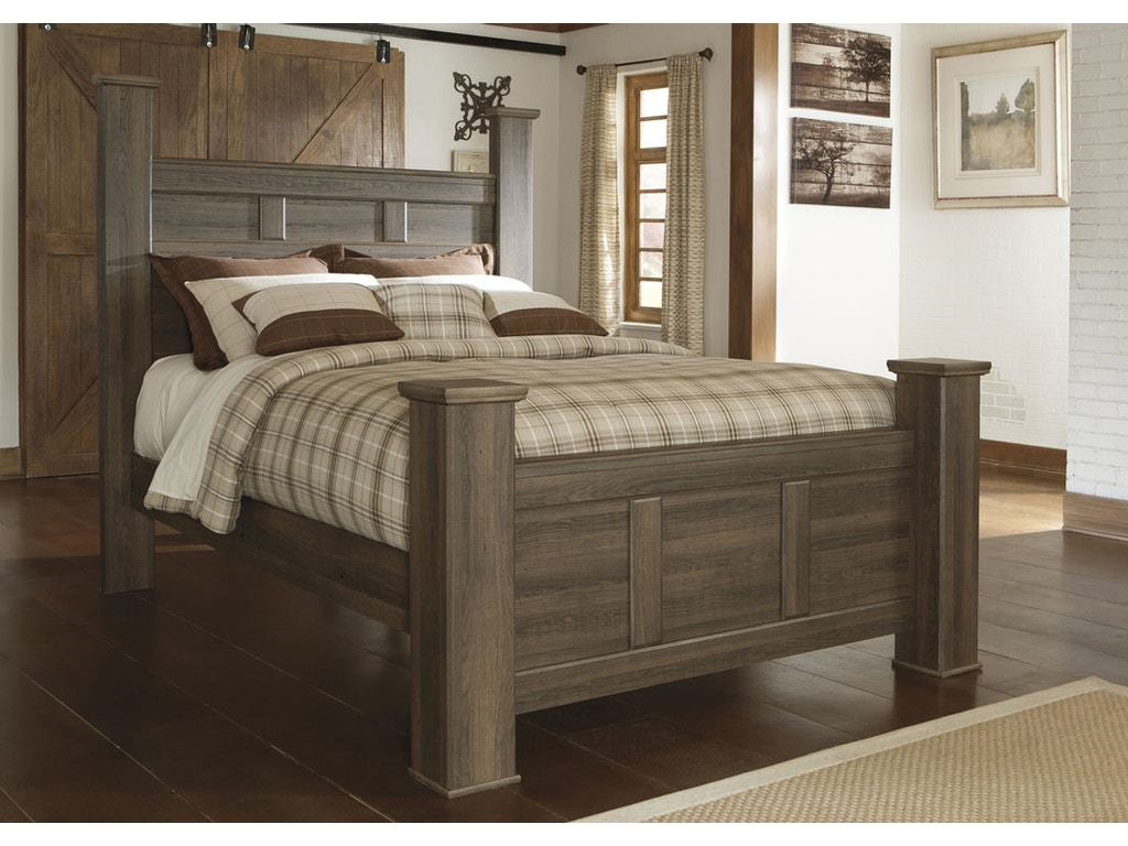 juararo panel 5pc bedroom set: headboard, footboard, dresser, and