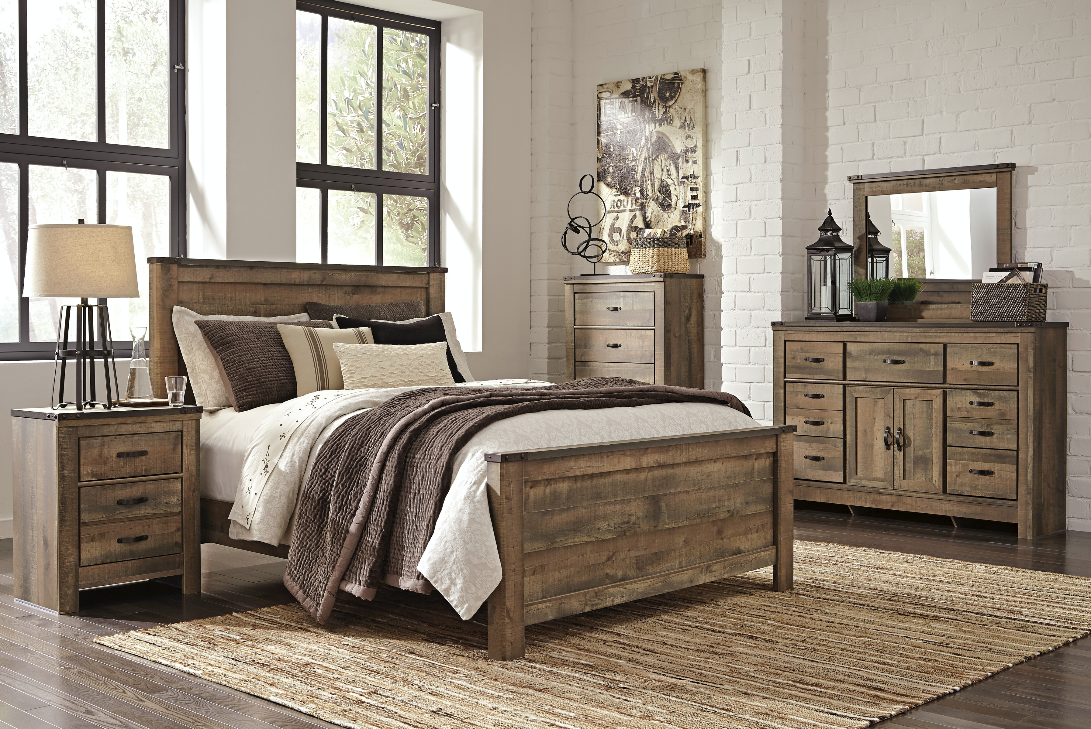 Ashley Trinell 5pc Bedroom Set B446 Queen 5pc Set