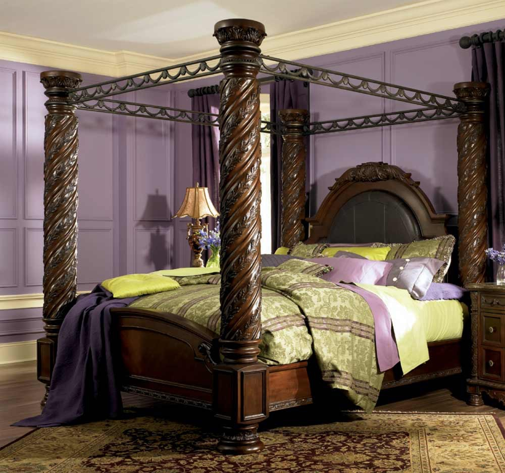 Ashley North Shore 5pc King Poster Bedroom Set b553-36/131/199/  sc 1 st  Winner Furniture & North Shore Bedroom Set (5pc): Headboard Footboard Rails ...