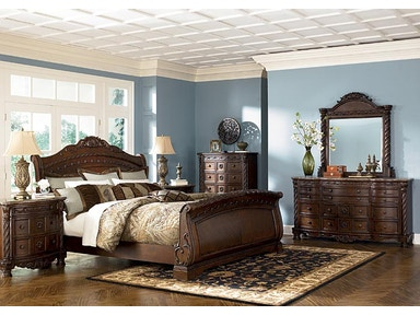 Ashley North Shore 5pc Bedroom Set B553 Sleigh Set