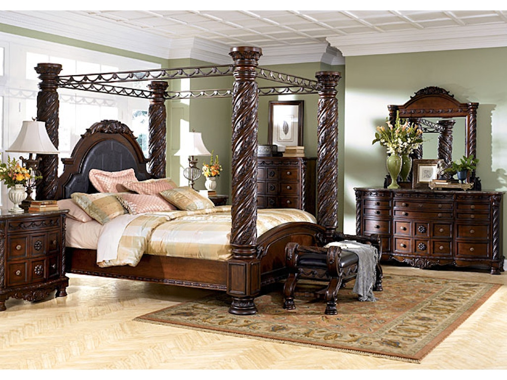 king poster bedroom sets. Ashley North Shore 5pc King Poster Bedroom Set b553 36 131 199  Headboard Footboard Rails