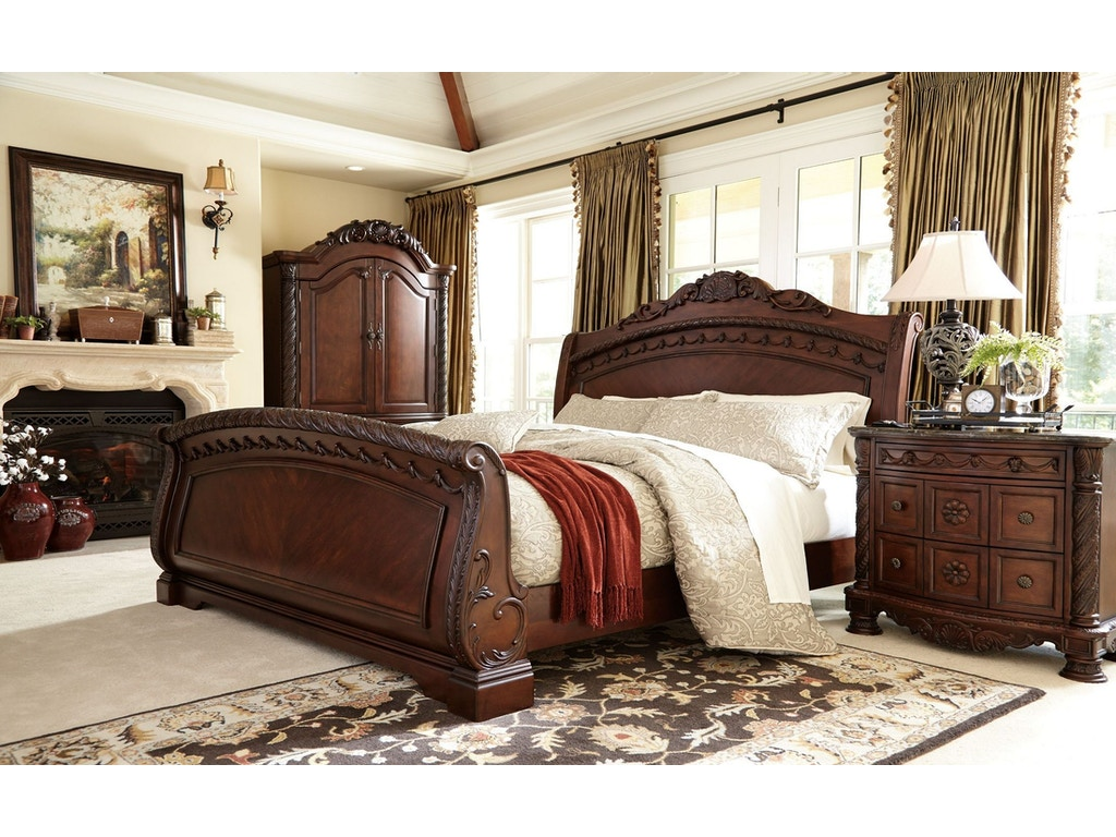 ashley north shore 5pc bedroom set b553 sleigh set at winner furniture