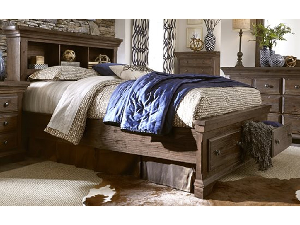 Progressive Bedroom Furniture Copenhagen 5pc Bookcase Headboard And Storage Bedroom Set