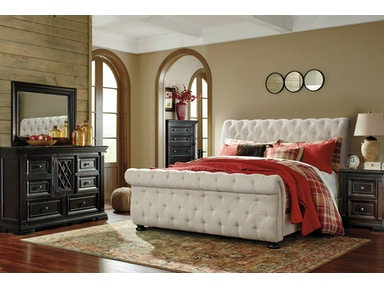 Signature Design By Ashley Bedroom Queen Upholstered Headboard B643 77 Winner Furniture
