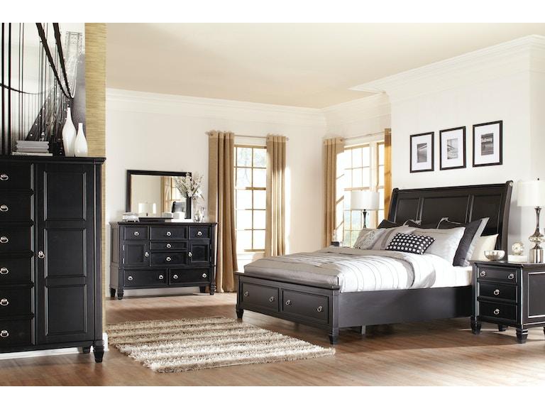 Greensburg 5pc Storage Sleigh Bedroom Set